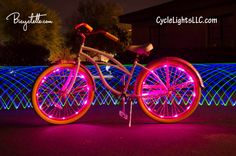 Grab your Bicyclette and your Cycle Lights and head to watch the fireworks! Light up the night and get the festivities started!