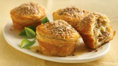 Layers of flaky biscuits hold a tempting and traditional honey-nut filling.