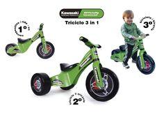 TRICICLO 3 EN 1 CUSTOM KAWASAKI. PALAU 8523, IndalChess.com Tienda de juguetes online y juegos de jardin