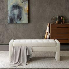 Latitude Run Chandra Upholstered Storage Bedroom Bench   AllModern