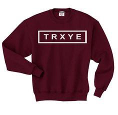TRXYE+Pullover+Sweatshirt+Crewneck+Sweater+Jumper+maroon