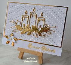 Card by Annette  (071413)  [Memory Box  Glowing Candles]