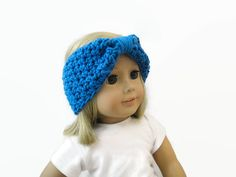 Turban Headband Doll Accessories Blue by PreciousBowtique on Etsy