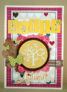 card with the amy tangerine collection