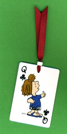 Bookmark PEPPERMINT PATTY from Peanuts Playing Card