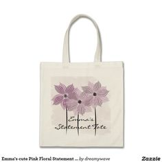 Emma's cute Pink Floral Statement Tote