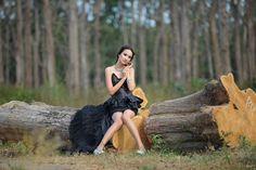 Model, Women, Asia, Beauty, People, Shirt Black, Forest