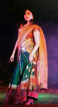 Neha Pednekar winner of Shravan Queen 2014 during Traditional Round: Shravan Queen 2014