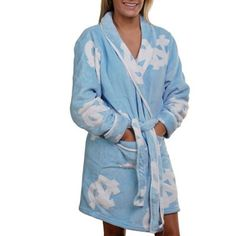 North Carolina Tar Heels (UNC) Ladies Carolina Blue Logo Cozy Robe