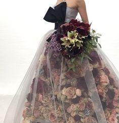 Trendy Ideas For Design Dresses Couture Tulle Flower Dresses, Pretty Dresses, Prom Dresses, Wedding Dresses, Amazing Dresses, Estilo Fashion, Ideias Fashion, Korean Fashion, Floral Gown
