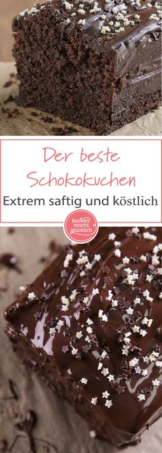 Einfaches Schokoladenkuchen-Rezept für einen wunderbar saftigen Schokokuchen. Ob als Geburtstagskuchen oder zum Kaffee - dieser klassische Schoko-Kuchen kommt immer gut an!