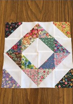 """Patchwork blocks, phase two is done! First phase of these """"split personality""""… Patchwork block with a plethora of plaids? Patchwork Quilt Patterns, Scrappy Quilts, Easy Quilts, Mini Quilts, Quilt Square Patterns, Floral Quilts, Hand Quilting Patterns, Quilting Projects, Quilting Designs"""