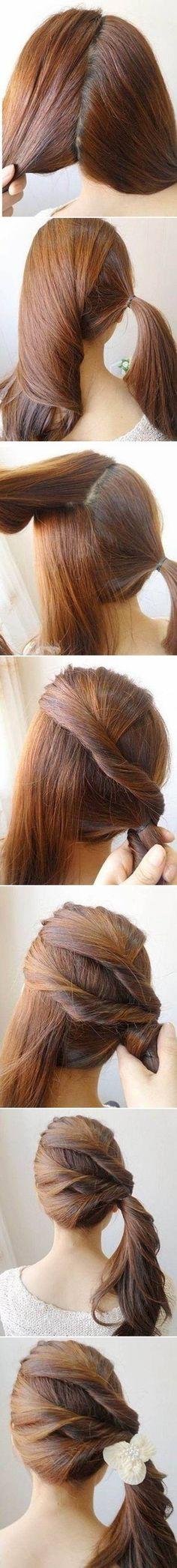 DIY Easy Twisted Side Ponytail Hairstyle #fashion #beauty #hairstyle