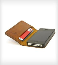 SLIMbook Leather iPhone Case & Wallet Cards, cash and phone all in one spot