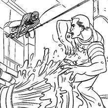 Spiderman scales walls coloring page. With a little imagination color this Spiderman scales walls coloring page with the most crazy colors of your . Spiderman Coloring, Crazy Colour, Coloring Pages, Superhero, Colouring In, Cards, Pictures, Quote Coloring Pages, Kids Coloring