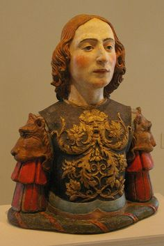 terra cotta, painted and gilded Italy (Bolognese: Vincenzo Onofri), ~1500.