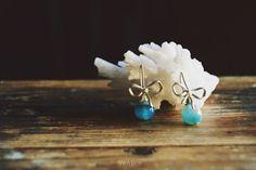 Orecchini argento con pietre dure/orecchini agata blu/gioielli fiocco/orecchini…