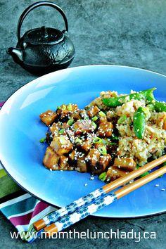 Sesame Garlic Tofu Sesame Sauce, Gym Food, Easy Smoothies, Meal Prep For The Week, Tofu, Fries, Garlic, Clean Eating, Ethnic Food