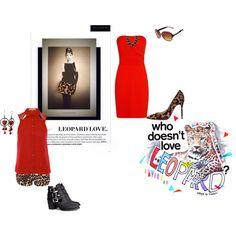 """Leopard"" by destitutediva on Polyvore #leopardprint #shorts #booties #straplessdress #dress #outfit #style #fashion #womenswear #polyvore #fashionista #stylish #clothing #HM #Louboutin"