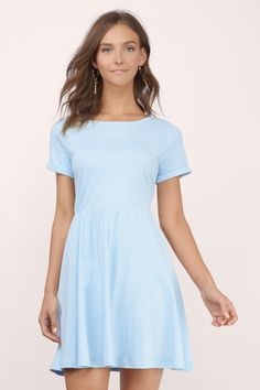 Dresses, Tobi, Light Blue Daydreaming Skater Dress