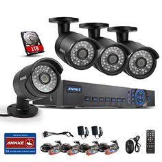 Annke 8CH 720P AHD DVR 1TB HDD with 4x 1.0MP CCTV Camera System