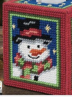 Plastic Canvas Tissue Boxes, Plastic Canvas Crafts, Plastic Canvas Patterns, Tissue Box Covers, Tissue Holders, Plastic Canvas Christmas, Cross Stitch Needles, Easter Projects, Ppr