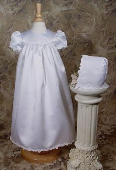 Satin Baptism Christening LDS Blessing Gown Closeout Clearance #LittleThingsMeanALot #Gown