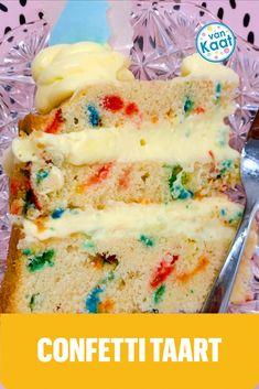 Bij een kinderfeestje hoort confetti! Daarom een blog vol met tips voor taart en traktaties in het confetti thema. Vanilla Cake, Tips, Desserts, Blog, Tailgate Desserts, Deserts, Postres, Blogging, Dessert