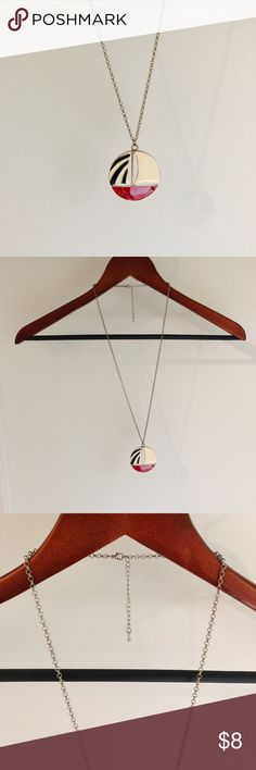 DELIAS Sailboat Charm Necklace • chain necklace with circular sailboat charm  • chain hangs 16 inches (can be shortened with clasp) • charms measures 2 inches in diameter Jewelry Necklaces