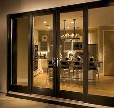 Front Range Lumber | Milgard Fiberglass Patio Doors. I absolutely love this look!!