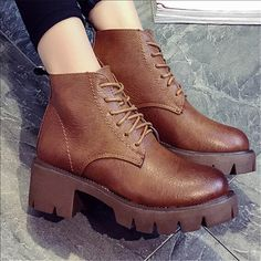 New. Lace Up Boots