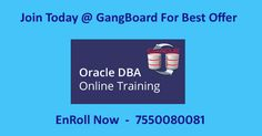 #oracledba #oracledbatraining #oracledbaonlinetraining #onlinetraining #gangboard #career   For a Real time Oracle DBA Online Training - Join Today @ GangBoard  https://www.gangboard.com/database-training/oracle-dba-training