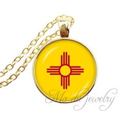 Wyoming State Flag Wyoming Map Pendant Necklace Flag of WY Jewelry Glass Cabochon Necklaces Jewelry (photo5) -- Awesome products selected by Anna Churchill