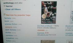 #1 IN HORROR! - My co-author on Six-Pack of Blood, Barbara Watkins, and I were stunned when our 6-P placed #1 in horror on Amazon Kindle Paid within the first week; #5 in Germany and #53 in the UK...and won the Best Paranormal/Horror award all in its first week. We pray the momentum continues. Thanks to all our fans and friends.