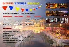 Enjoy our Super Fiesta Promo!  BADIAN ISLAND RESORT & SPA Badian Island, Cebu, Philippines W. www.badianhotel.com | E. badianisla@aol.com Tel. No. (+63-32) 401-3303 to 05/475-0010 | Fax No.: (+63-32) 401-3302