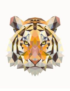 Geometric Tiger Vector Digital Download by FinnGoodPrints on Etsy