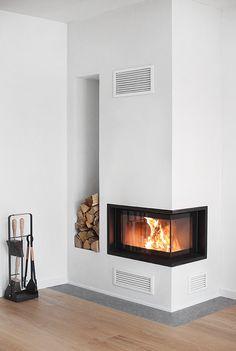Fireplace Contura i40 limestone Öländsk Gillberga Hors och ekparkett Kährs Cornwall enstav från Trendenser.se (sponsrat samarbete)