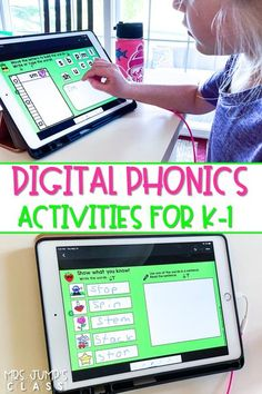 Your students will love these digital phonics tasks! 36 weeks of phonics practice with 1-click Seesaw links! Great for distance learning or using technology in the classroom.