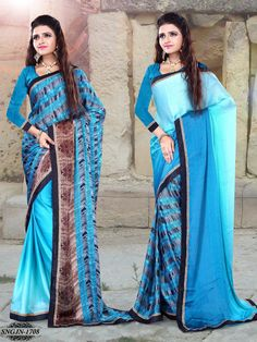 Exude sheer charm and elegance wearing attractive sarees. Beautifully designed, these sarees will become your preferred in just no time. Team this sarees with a necklace set and high heels .