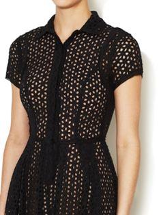 Cotton Eyelet Dasha Shirt Dress from 100 Top Spring Looks on Gilt