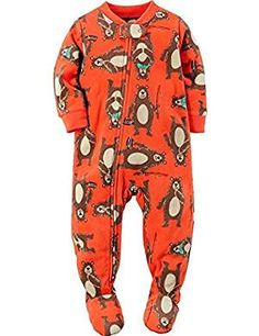 CARTER/'S® Baby Boy 12M Penguin Footed Pajama or Fleece Sleeper NWT