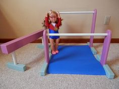 """American Girl Doll or other 18"""" doll gymnastic set."""