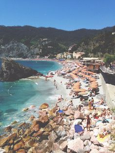 Spending a day at the beach in Cinque Terre, Italy.