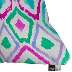 DENY Designs Amy Sia Watercolor Ikat 2 Throw Pillow - Beachfront Decor