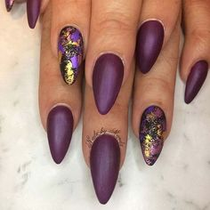 Trendy Matte and Foil Nail Art for Matte Nail Designs for Fall
