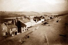 Torcross, Devon, United Kingdom | Devon, Slapton Sands in the 1920's - beach and houses.