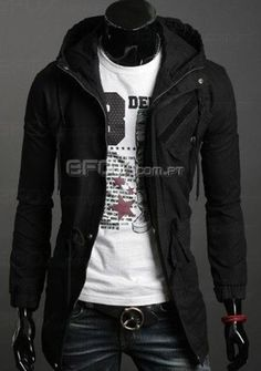 High Quality Cotton Trench Coat Men Fashion Slim Men's Jackets Outerwear Casual Windbreaker Mens Trench Coat Overcoat Casacos - On Trends Avenue Mens Military Style Jacket, Revival Clothing, Latest Mens Fashion, Men's Fashion, Gothic Fashion, Winter Fashion, Trench Coat Men, Sharp Dressed Man, Windbreaker Jacket