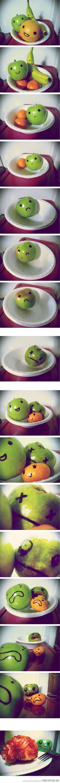 Fruits. Zombies. Healthy zombie apocalypse coming!