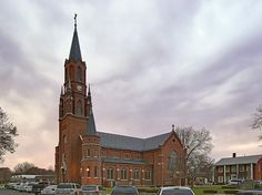 Saint Mary Roman Catholic Church, in Carlyle, Illinois, USA - exterior side by msabeln, via Flickr