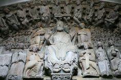 Tímpano del pórtico de la Gloria de la catedral de Santiago de Compostela (Galicia). -4